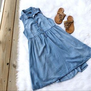 Vans ~ Mini Denim Sleeveless Button Dress